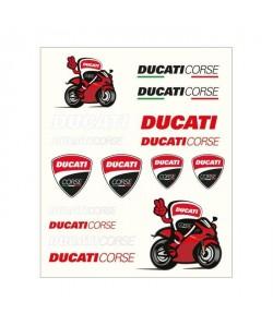 GP MOTORS Stickers medium Ducati  Rouge et Noir
