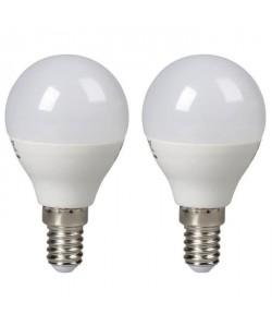 EXPERTLINE Lot de 2 Ampoules LED E14 sphériques 3 W équivalent a 25 W blanc froid