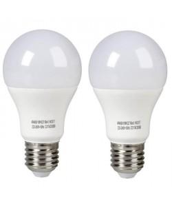 EXPERTLINE Lot de 2 Ampoules LED E27 10 W équivalent a 60 W blanc froid