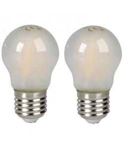 EXPERTLINE Lot de 2 Ampoules LED filament E27 5 W équivalent a 45 W blanc chaud