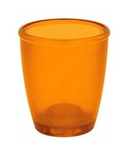 TORONTO Gobelet salle de bain  9,5x8,5x8,5 cm  Orange