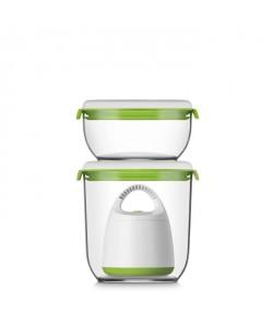 FOSA Kit de mise sous vide alimentaire en récipients 30000 6001350 ml blanc et vert