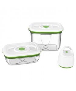 FOSA Kit de mise sous vide alimentaire en récipients 10002300 ml blanc et vert