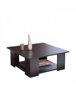 LIME Table basse carrée style contemporain noir mat  L 67 x l 67 cm