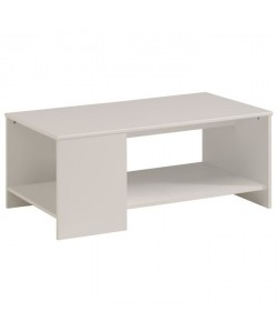 ESSENTIELLE Table basse style contemporain blanc  L 98 cm