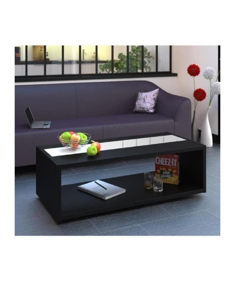 Dany Basse 116 Contemporain Brillant Noir Cm Table Blanc Et 3AR45jqL