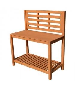Table de plantation étagere pour jardin en acacia bois FSC  103x51,5x120cm