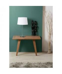 FANNY Table d\'appoint rectangulaire style classique en bois  L 70 x l 50 cm