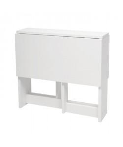 FOLDING Console extensible style contemporain MDF laqué blanc  L 2462100 cm