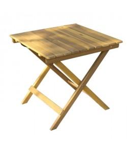 Petite table carrée pliable en bois d\'acacia  48x48x45cm  Marron