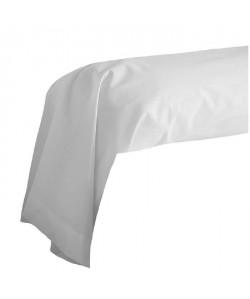 COTE DECO Taie de Traversin 100% coton 85x185 cm  Blanc