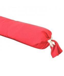 VENT DU SUD Taie de traversin PALACE 100% coton  43x195 cm  Rouge cranberry