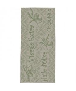 CARLTON Tapis de cuisine 67x140cm Laine & Vert jungle Imprimé