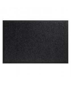 Tapis d?entrée TWISTER  Noir  60x90 cm  Support vinyl antidérapant