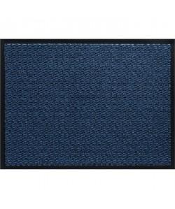 Tapis d\'entrée a motifs  80x120 cm  Style Classique  Coloris bleu
