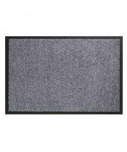 Tapis d?entrée TWISTER  Gris  40x60 cm  Support vinyl antidérapant