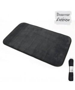 Tapis microfibre noir 45x75 cm