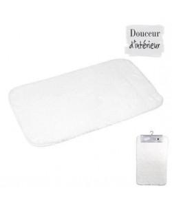 Tapis de bain 100% coton 45x75 xm Blanc