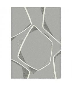 MOSAIK Tapis de salon tissé droit 100% polypropylene Heatset 120x170 cm gris