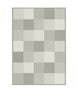 CARO Tapis de salon tissé plat 100% polypropylene 160x230 cm gris