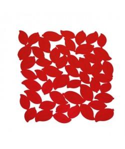 FRANDIS Tapis de fond d\'évier  Feuille PVC  L 29 x l 29 cm  Rouge