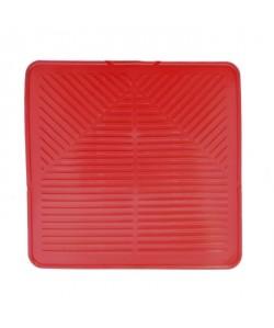 FRANDIS Tapis pour égouttoir avec évacuation d\'eau  L 29 x l 29 cm  Rouge