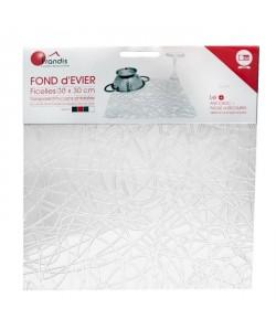 FRANDIS Tapis de fond d\'évier  PVC  Ficelles transparantes