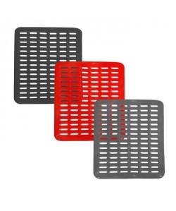 FRANDIS Tapis égouttoir en grille  L 34,5 x l 28 cm  3 coloris assortis