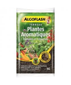 ALGOFLASH Terreau Plantes Aromatiques, Tomates et Légumes en pot  6L