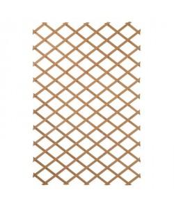 NATURE Treillis extensible en bois naturel 50x150cm  Marron