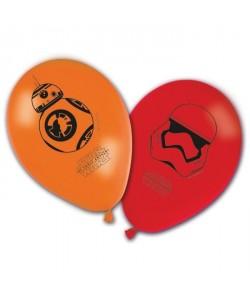 Lot de 8 ballons imprimés Star Wars  Objet décoratif  Bonne qualité  En latex  Facile a gonfler