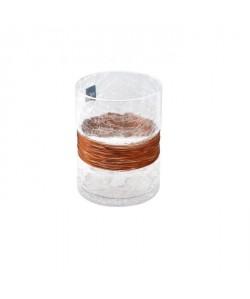EDELMAN Hedy Vase verre transparent  Verre  Effet craquelé  H20 x D15 cm