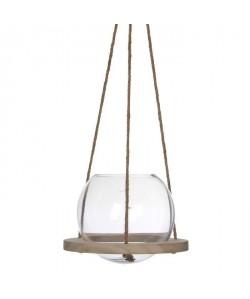 EDELMAN Vase a suspendre Verre  Transparent  H23 x D25 cm