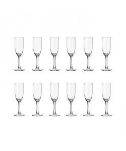 LIBBEY CLARET Lot de 12 flűtes a champagne 17 cl transparent