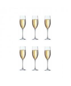 ARCOROC CARBENET Lot de 6 flűtes a champagne 16 cl transparent