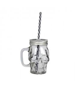 ARD\'TIME Lot de 4 bocaux avec anse drinking jars Cubanios  48 cl