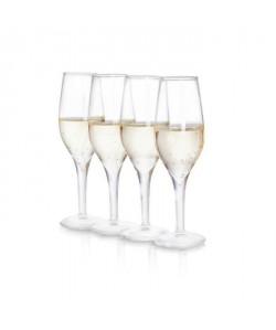 SOIREE Lot de 4 verres a shot en forme de verre a champagne
