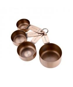 LADELLE Set de 4 coupes a doser Lawson  Acier inoxydable  Vieux cuivre