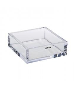 GERSON Vide poche carré  14,5x14,5x5 cm  Transparent