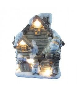 Firgurine de Noël Grande maison lumineuse conte de fées H35 cm