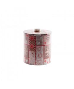 Pot en métal étoiles de neige 17x20cm