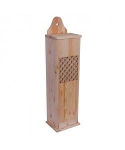 FRANDIS Huche a pain en bois pin massif 78x21x17cm marron