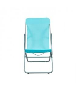 BEAU RIVAGE Set de 2 chaises relax de jardin Ibiscus en acier  Bleu