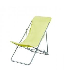 BEAU RIVAGE Set de 2 chaises relax de jardin Ibiscus en acier  Vert