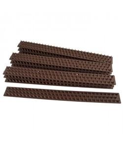 MUNDUS Lot de 10 barrieres a piques  L 50 cm  Marron