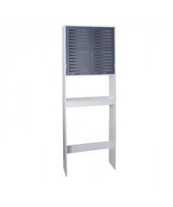 LINDA Armoire WC L 63 cm  Blanc et gris