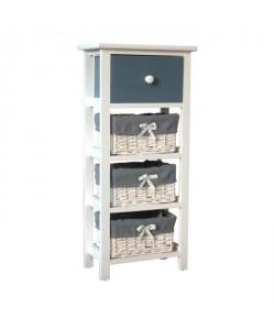 IBIZA Petit meuble de rangement de salle de bain 30 cm  Laqué blanc brillant