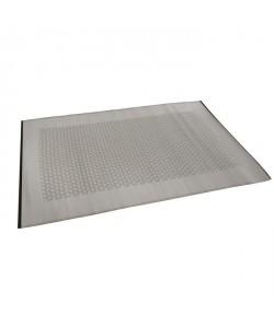Tapis d\'extérieur Roma  En polypropylene recyclé  120 x 180 cm  Gris et blanc
