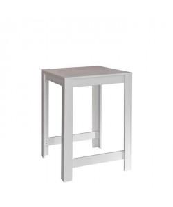 CURRY Tablebar de 2 a 4 personnes style contemporain mélaminé blanc mat  L 80 x L 70 cm