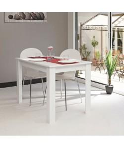 PEPPER Table a manger 4 a 6 personnes style contemporain mélaminée blanc  L 110 x l 70 cm